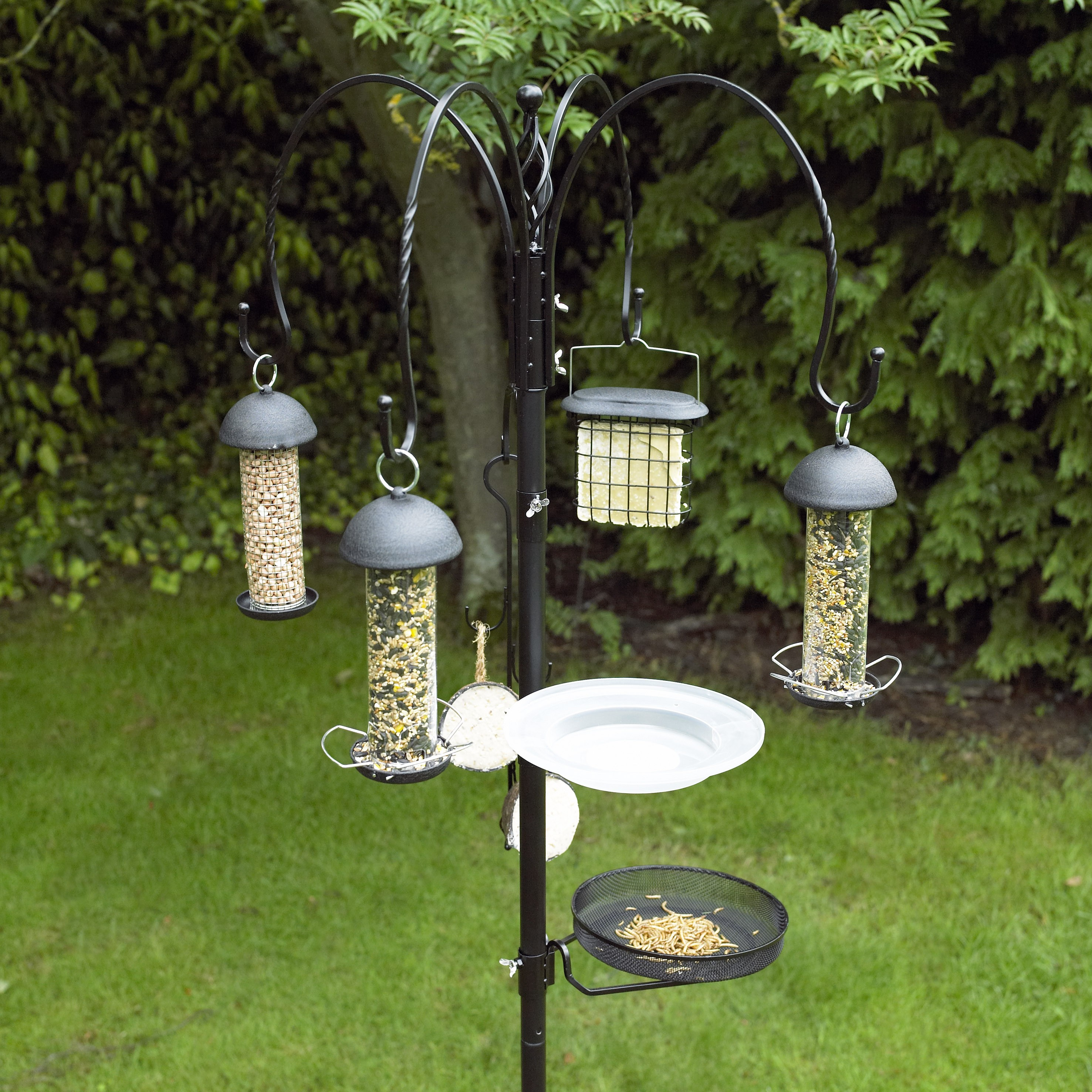 Bird Baths, Feeders & Tables SUET CAKE BIRD FEEDER OUTDOOR WILD FEED HANGING FEEDER HOLDER GARDEN LIGHT GREEN