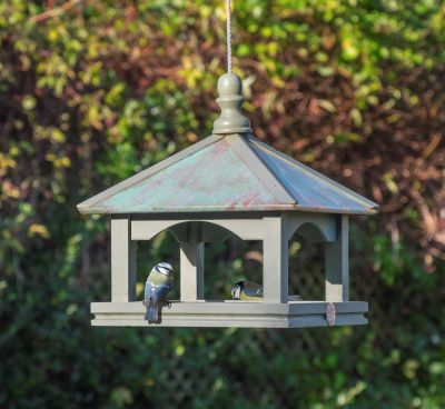 Copper Roof Bird Table