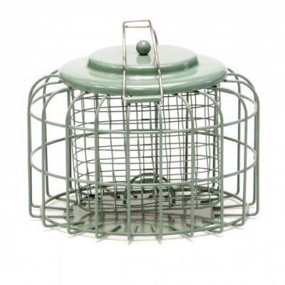 Nuttery Caged Suet Block and Fat Ball Feeder